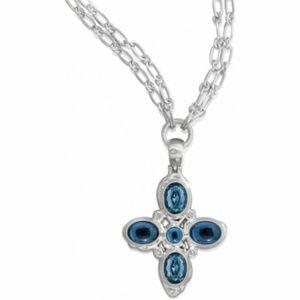 Brighton neptune necklace silver/blue